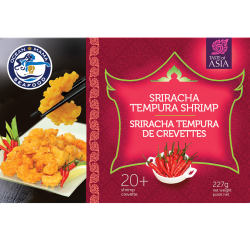 Sriracha Shrimp - Food Photography - Package Design - Product Development