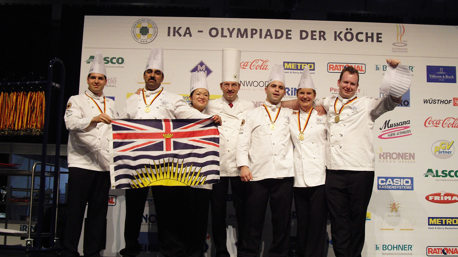 Gold Medal - 2008 Culinary Team British Columbia - World Culinary Olympics