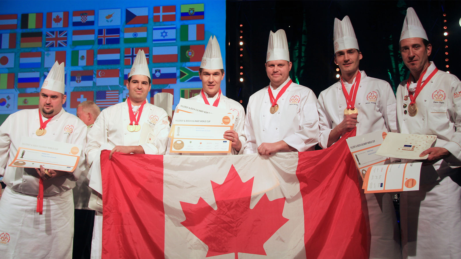2 Gold Medal Finishes - 2010 Luxembourg ExpoGast - Culinary Team Canada